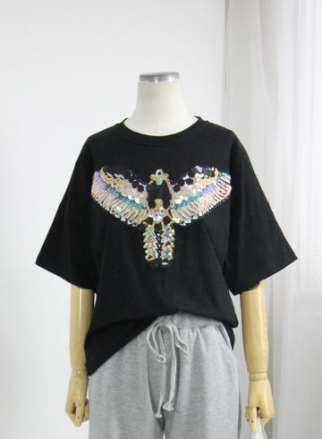스팽글 반팔 티셔츠 MN1337