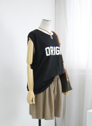 오리 라운드넥 민소매 티셔츠 MSM2037