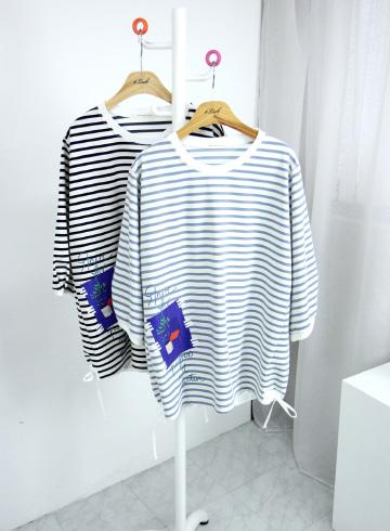 갤러리 단가라 밑단조임 티셔츠 NBN1684