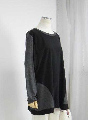 리아 배색 라운드넥 티셔츠 NR1196