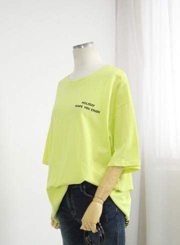 호프 라운드넥 반팔 티셔츠 OPA42