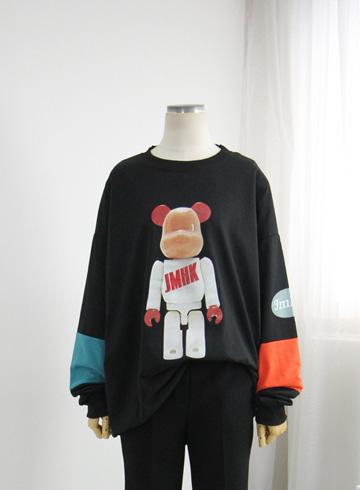 팔배색 곰 루즈핏티셔츠 TTM77