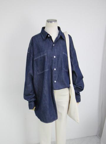 해리 박스핏 청남방셔츠 WIT22